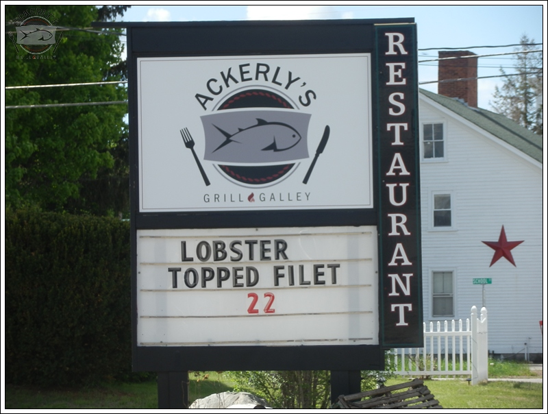 Daily Specials offered at Ackerly's Grill and Galley Restaurant in Alton, NH